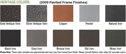 Thermo-Rite Frame Finishes